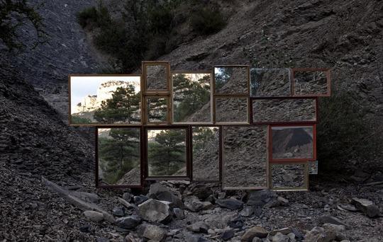 INSITU. ©®Robert Smithson. Asphalt Rundown, 2010