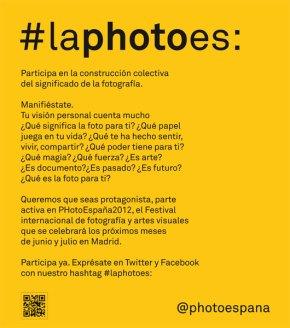 PHotoEspaña invita a definir qué es la fotografía a través de una campaña en redes sociales